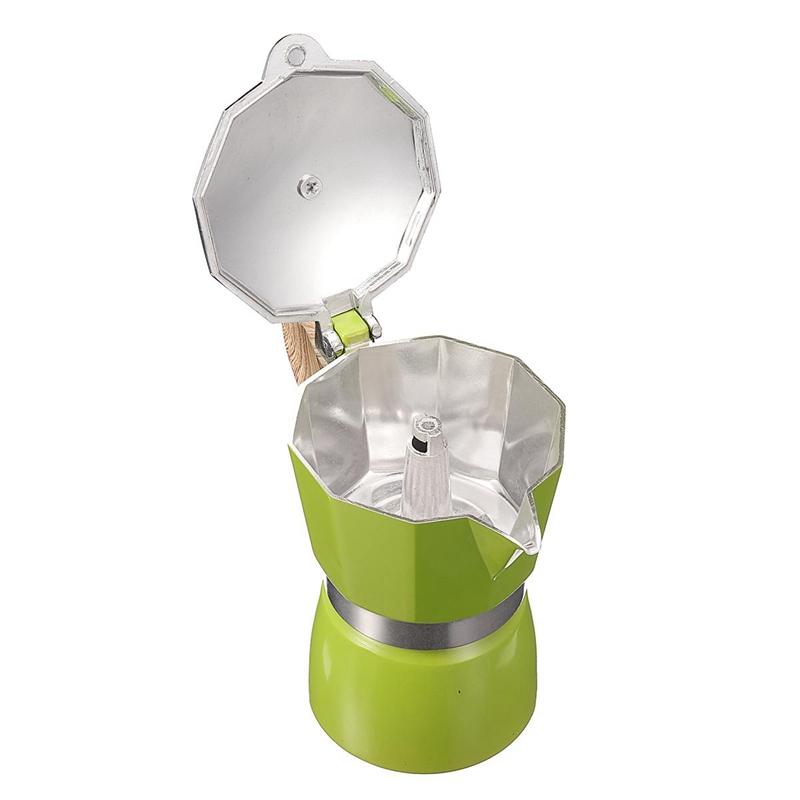 miniature 17 - 1X-Aluminium-Moka-Espresso-Machine-a-Cafe-Filtre-Poele-Poele-Pot-3-Tasses-I3Z4