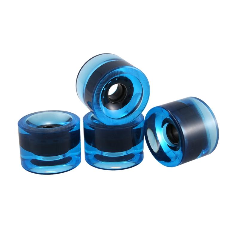 miniatura 12 - 4 Piezas en Blanco Longboard Cruiser Skateboard Wheels 70X51Mm 80A Parts J8X6