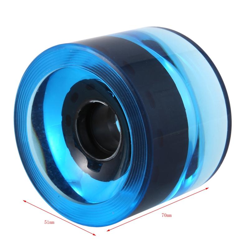 miniatura 13 - 4 Piezas en Blanco Longboard Cruiser Skateboard Wheels 70X51Mm 80A Parts J8X6