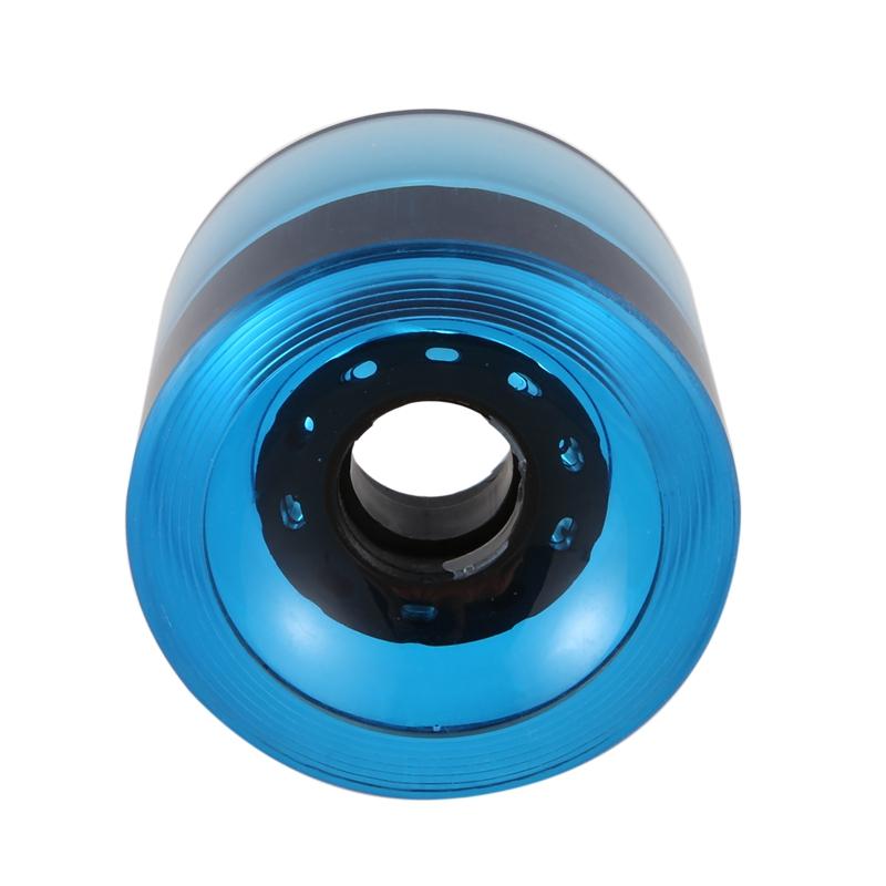 miniatura 17 - 4 Piezas en Blanco Longboard Cruiser Skateboard Wheels 70X51Mm 80A Parts J8X6