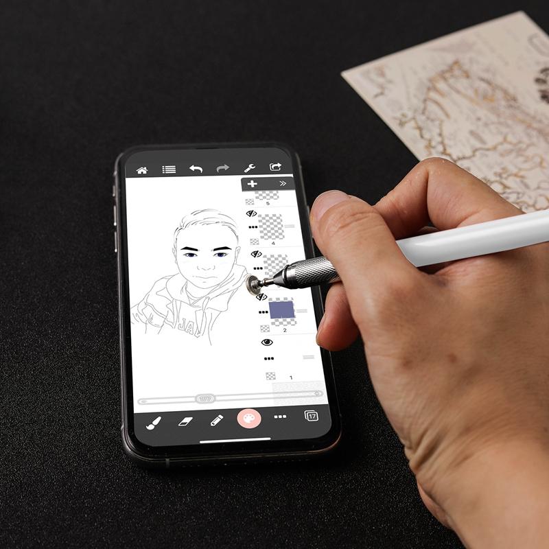 miniature 6 - 1X(Stylo Capacitif à Double Contact, Ventouse Pen Twoin One pour Kindle et Q5C3