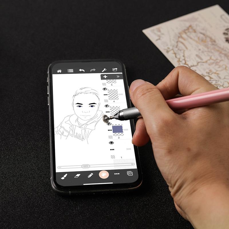 miniature 21 - 1X(Stylo Capacitif à Double Contact, Ventouse Pen Twoin One pour Kindle et Q5C3