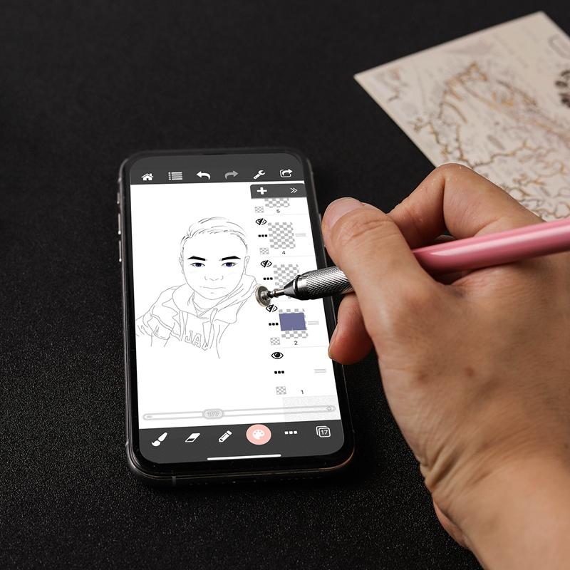 miniature 28 - 1X(Stylo Capacitif à Double Contact, Ventouse Pen Twoin One pour Kindle et Q5C3