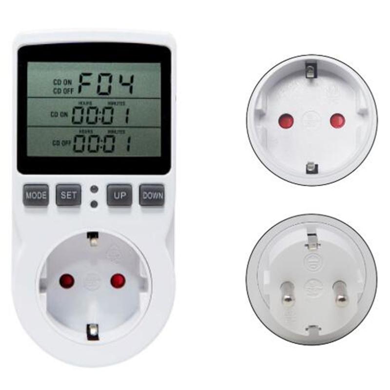 Multi Funzione Regolatore Di Temperatura Termostato Uscita Presa con timer interruttore
