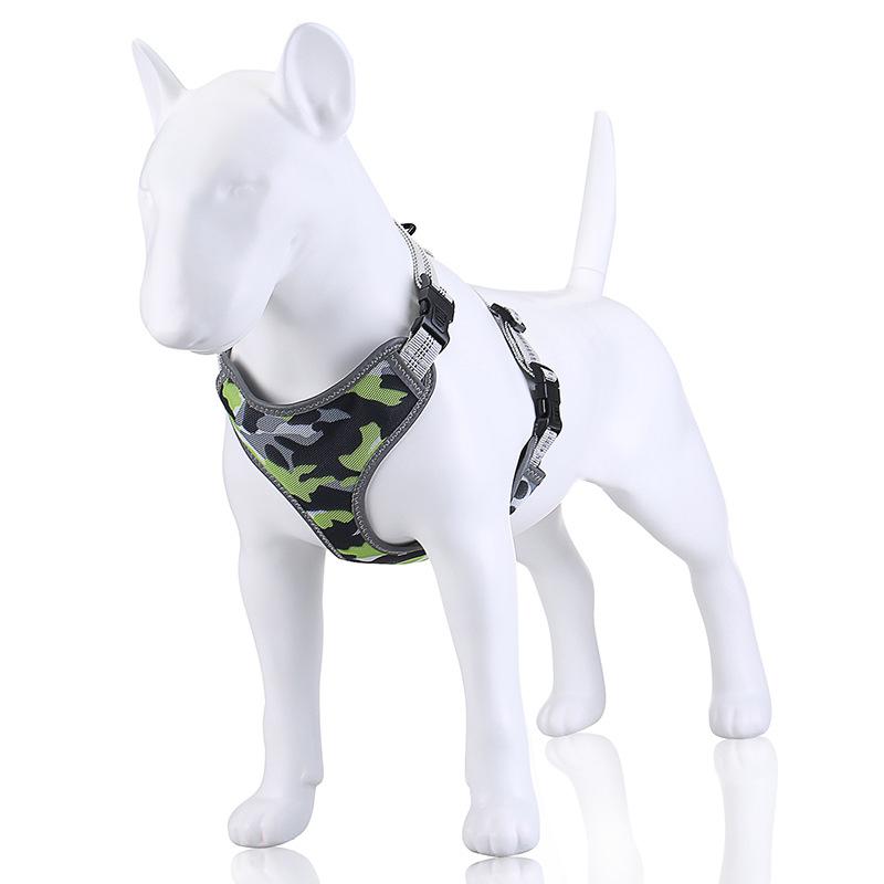 Indexbild 10 - Dog-Mesh-Harness-Haustier-Cat-Harness-Leine-Set-Walk-Collar-Outdoor-Strap-W-V5G7