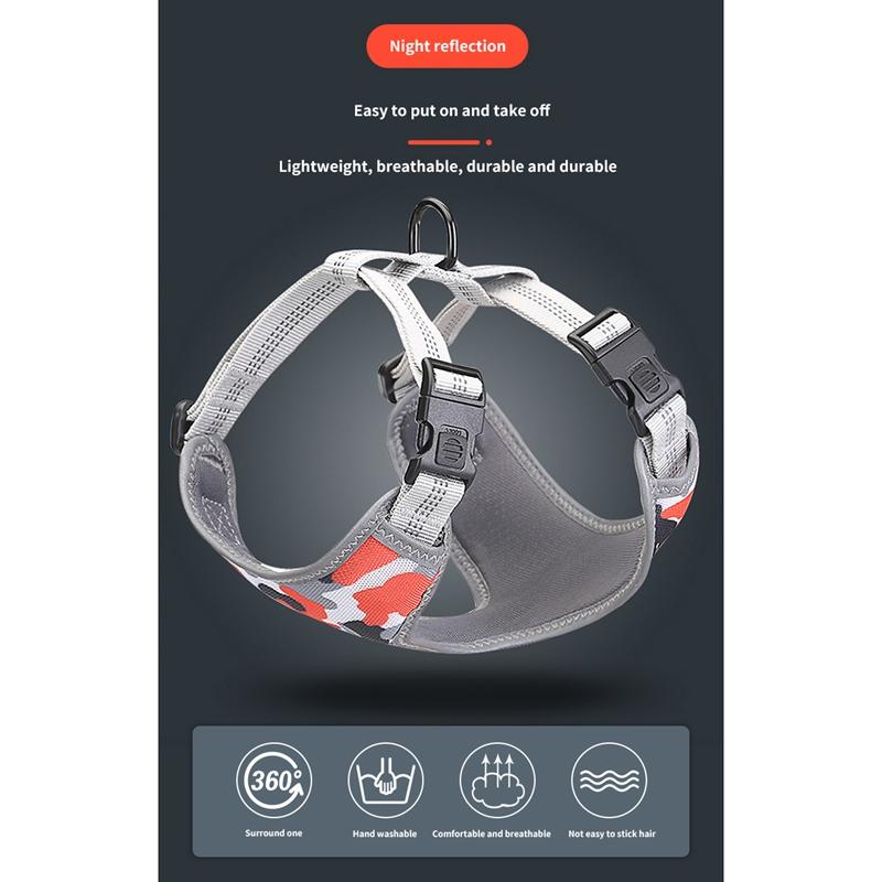 Indexbild 13 - Dog-Mesh-Harness-Haustier-Cat-Harness-Leine-Set-Walk-Collar-Outdoor-Strap-W-V5G7