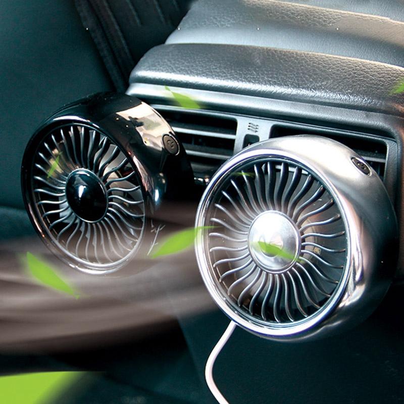 miniature 4 - Ventilateur de Climatiseur de Voiture Vent 3 Modes pour Ajuster, USB Fort e O6O8
