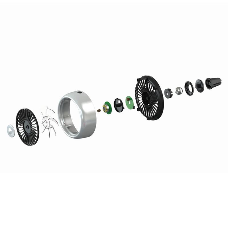 miniature 11 - Ventilateur de Climatiseur de Voiture Vent 3 Modes pour Ajuster, USB Fort e O6O8