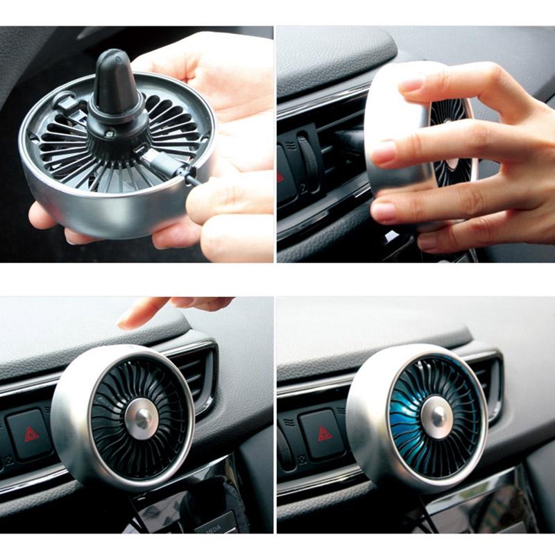 miniature 14 - Ventilateur de Climatiseur de Voiture Vent 3 Modes pour Ajuster, USB Fort e O6O8