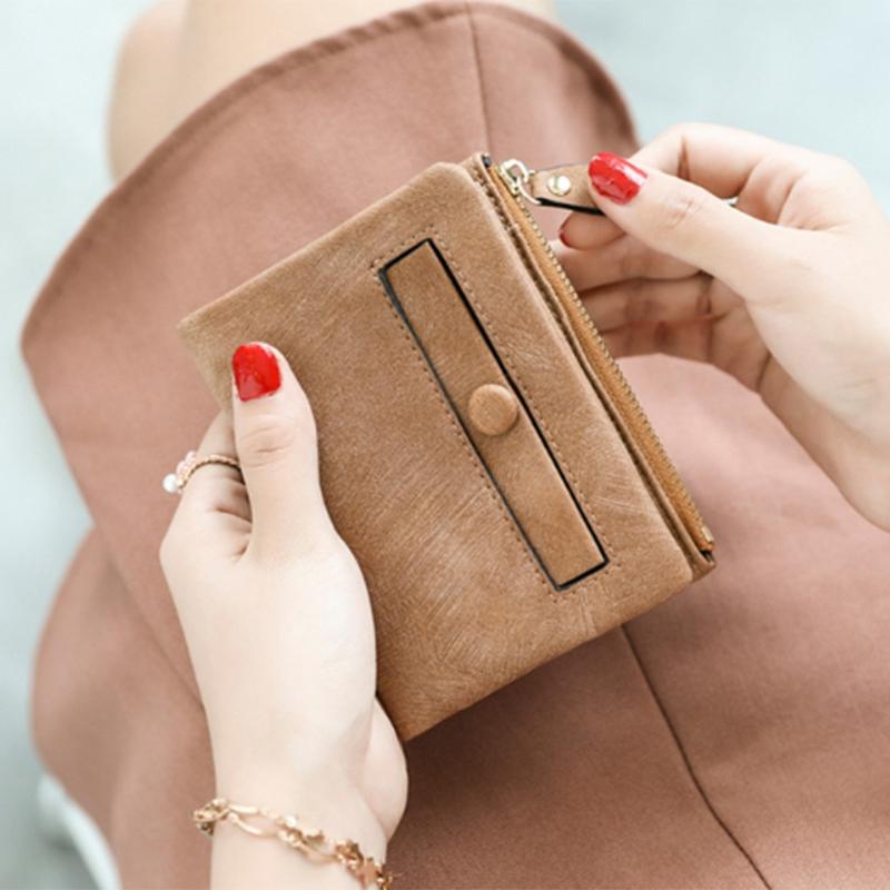 Dames-Portefeuille-Petite-Mode-en-Cuir-Porte-Monnaie-Dames-Porte-Cartes-Sac-P4K5 miniature 3