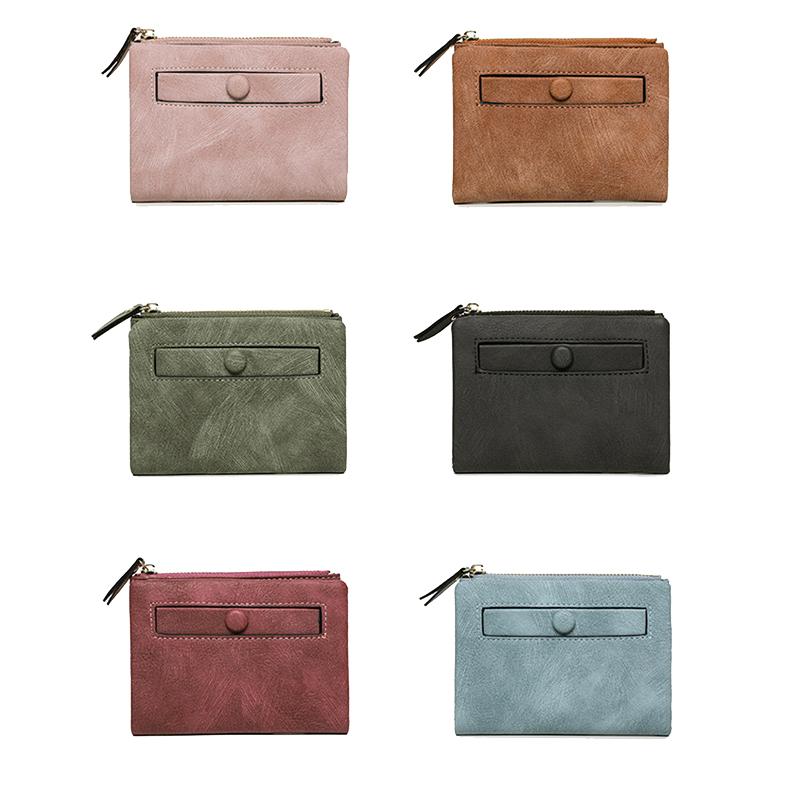 Dames-Portefeuille-Petite-Mode-en-Cuir-Porte-Monnaie-Dames-Porte-Cartes-Sac-P4K5 miniature 7