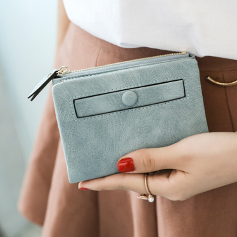 Dames-Portefeuille-Petite-Mode-en-Cuir-Porte-Monnaie-Dames-Porte-Cartes-Sac-P4K5 miniature 9