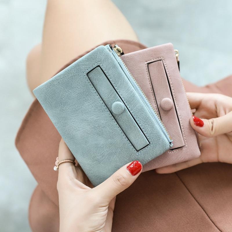 Dames-Portefeuille-Petite-Mode-en-Cuir-Porte-Monnaie-Dames-Porte-Cartes-Sac-P4K5 miniature 10