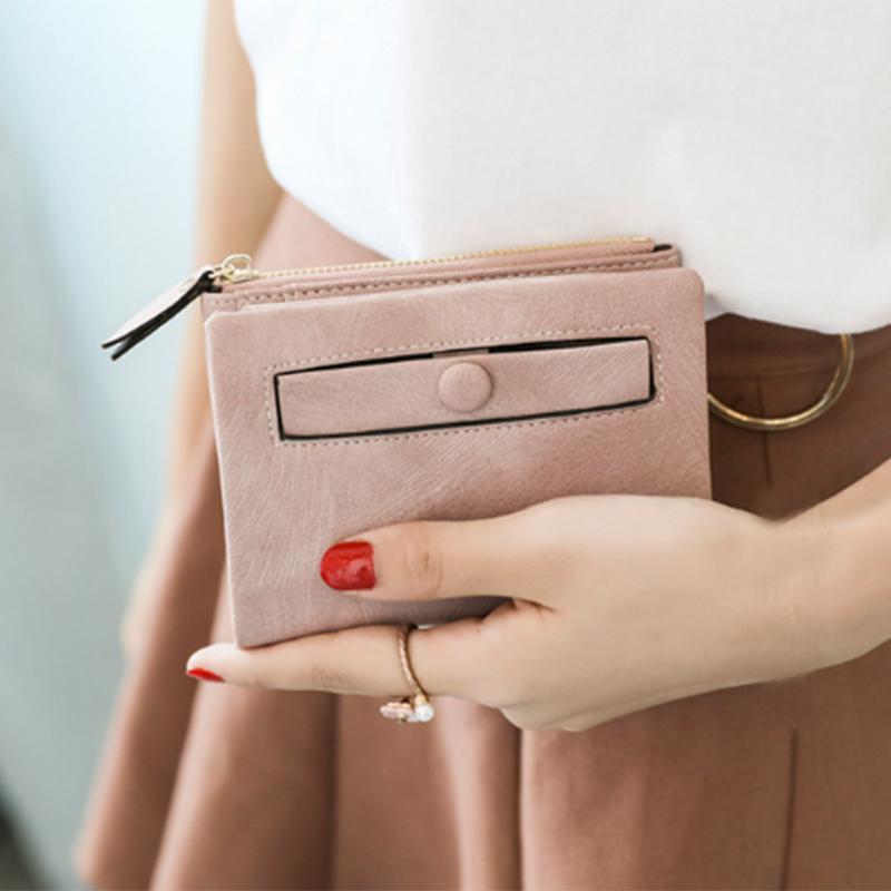 Dames-Portefeuille-Petite-Mode-en-Cuir-Porte-Monnaie-Dames-Porte-Cartes-Sac-P4K5 miniature 23