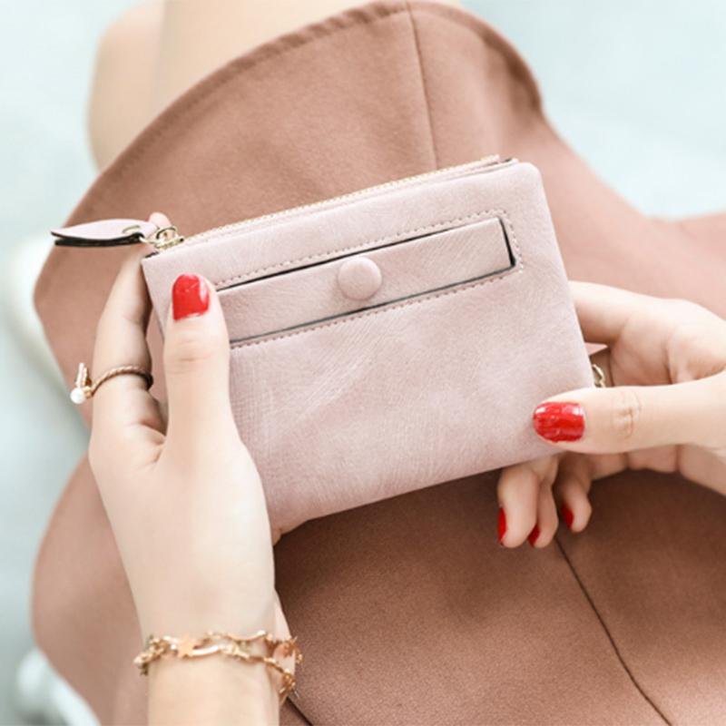 Dames-Portefeuille-Petite-Mode-en-Cuir-Porte-Monnaie-Dames-Porte-Cartes-Sac-P4K5 miniature 24