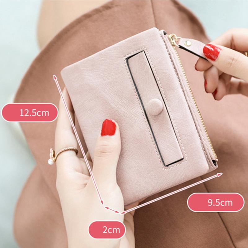 Dames-Portefeuille-Petite-Mode-en-Cuir-Porte-Monnaie-Dames-Porte-Cartes-Sac-P4K5 miniature 25