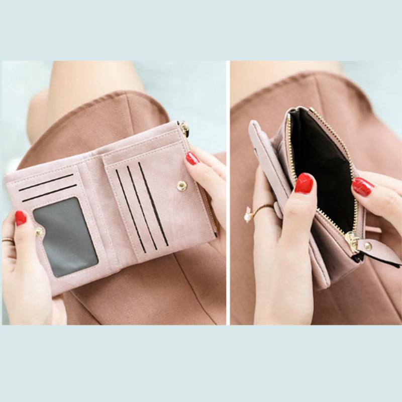 Dames-Portefeuille-Petite-Mode-en-Cuir-Porte-Monnaie-Dames-Porte-Cartes-Sac-P4K5 miniature 30