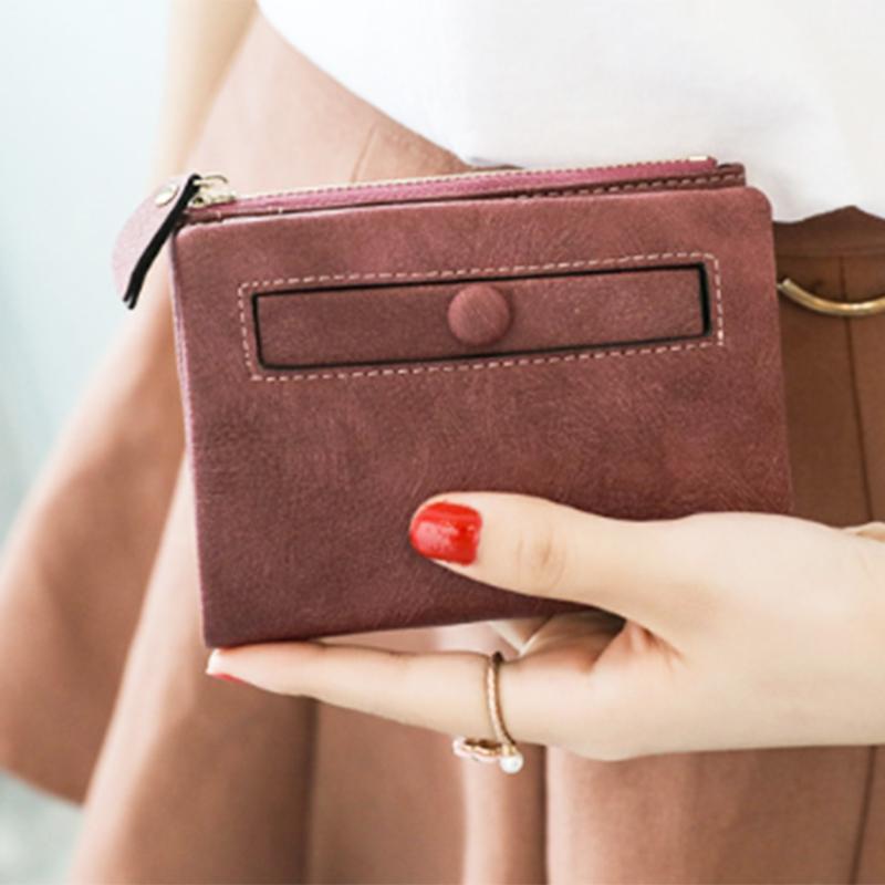 Dames-Portefeuille-Petite-Mode-en-Cuir-Porte-Monnaie-Dames-Porte-Cartes-Sac-P4K5 miniature 32