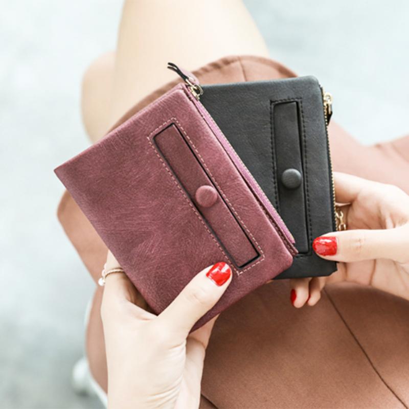 Dames-Portefeuille-Petite-Mode-en-Cuir-Porte-Monnaie-Dames-Porte-Cartes-Sac-P4K5 miniature 33