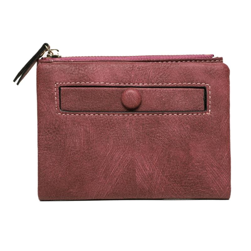 Dames-Portefeuille-Petite-Mode-en-Cuir-Porte-Monnaie-Dames-Porte-Cartes-Sac-P4K5 miniature 35