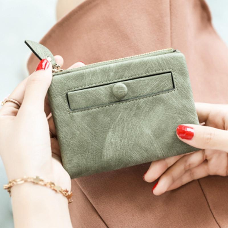 Dames-Portefeuille-Petite-Mode-en-Cuir-Porte-Monnaie-Dames-Porte-Cartes-Sac-P4K5 miniature 38