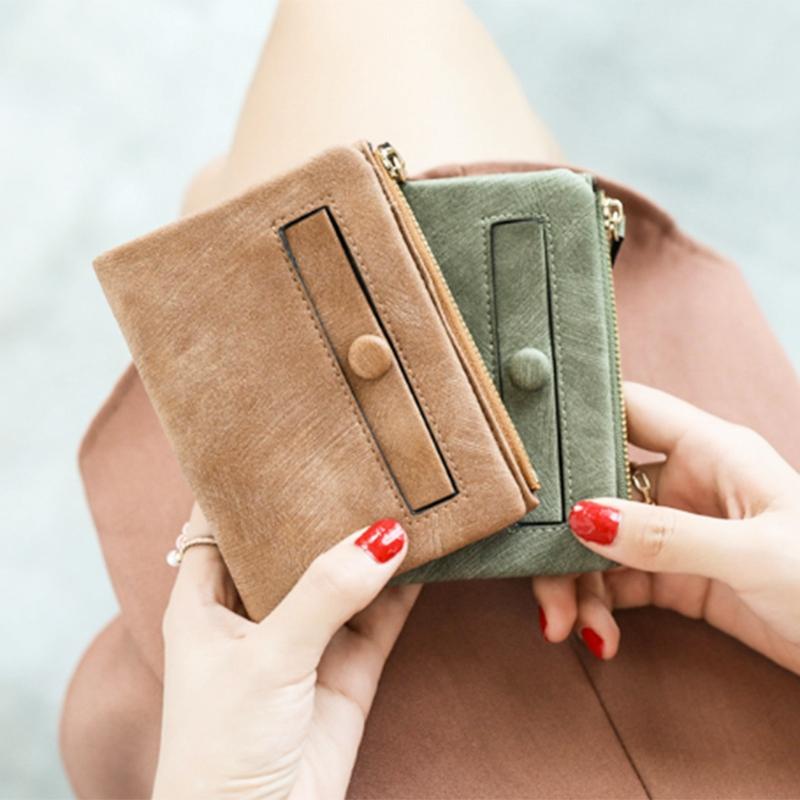 Dames-Portefeuille-Petite-Mode-en-Cuir-Porte-Monnaie-Dames-Porte-Cartes-Sac-P4K5 miniature 39