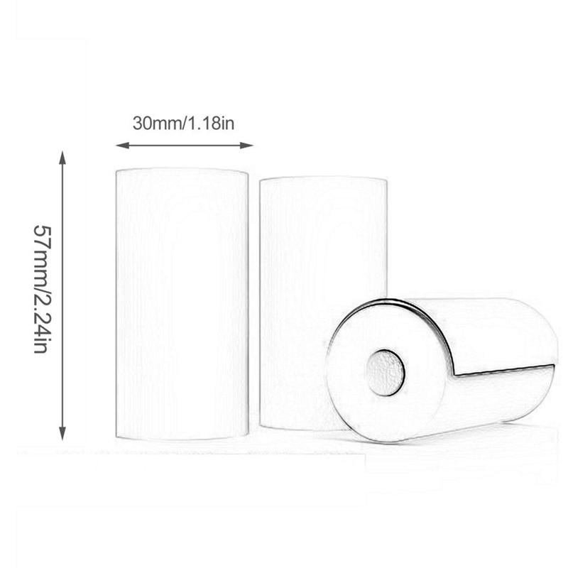 miniature 6 - 10 Rouleaux de Papier Thermique Caisse Enregistreuse POS ReçUs Papiers 57X3 N2Z9
