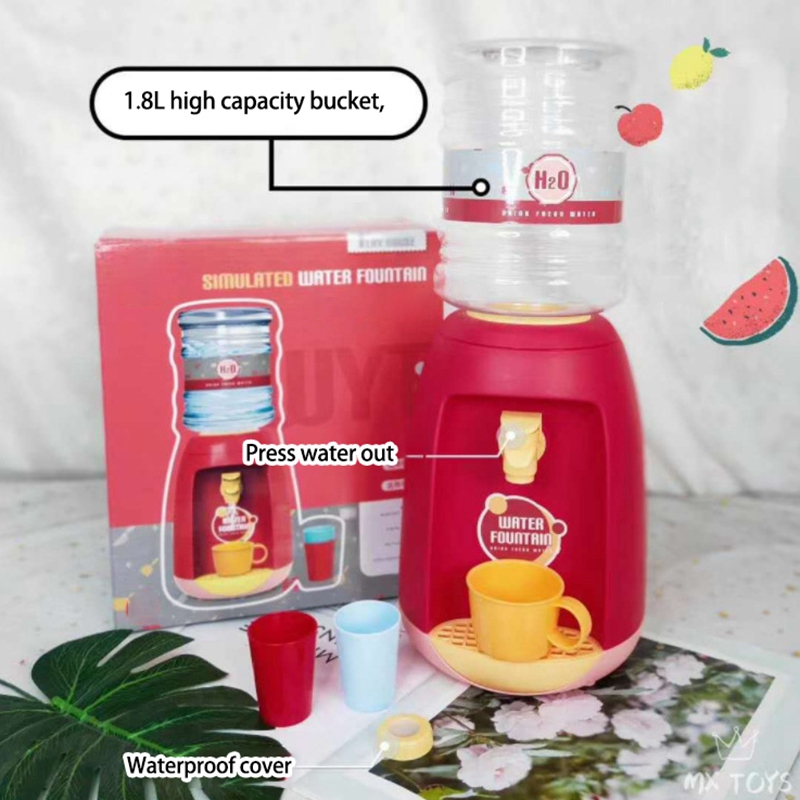 miniatura 15 - Dispenser di Acqua Set di Giocattoli Fingere Elettrodomestici da Cucina Gio G9V7