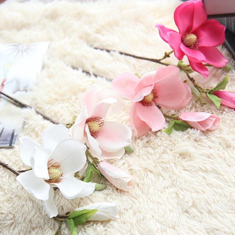 thumbnail 5 - Wedding-Decoration-Silk-Flowers-Orchid-Magnolia-Wedding-Artificial-Flowers-N2U8