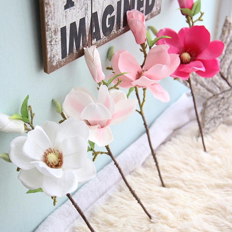 thumbnail 11 - Wedding-Decoration-Silk-Flowers-Orchid-Magnolia-Wedding-Artificial-Flowers-N2U8