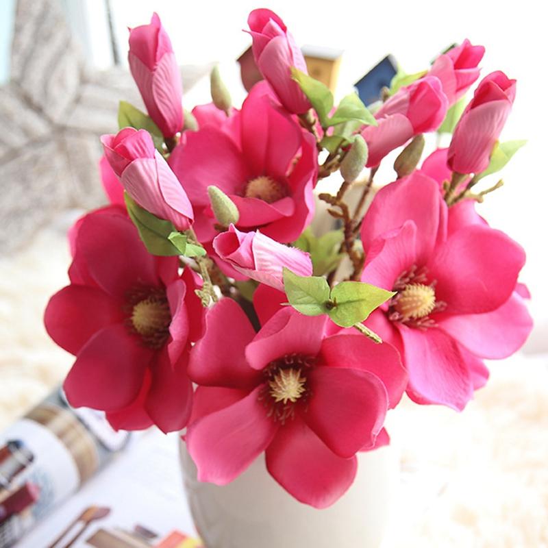 thumbnail 16 - Wedding-Decoration-Silk-Flowers-Orchid-Magnolia-Wedding-Artificial-Flowers-N2U8