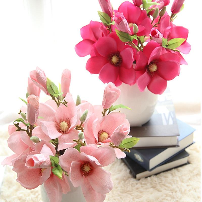 thumbnail 20 - Wedding-Decoration-Silk-Flowers-Orchid-Magnolia-Wedding-Artificial-Flowers-N2U8