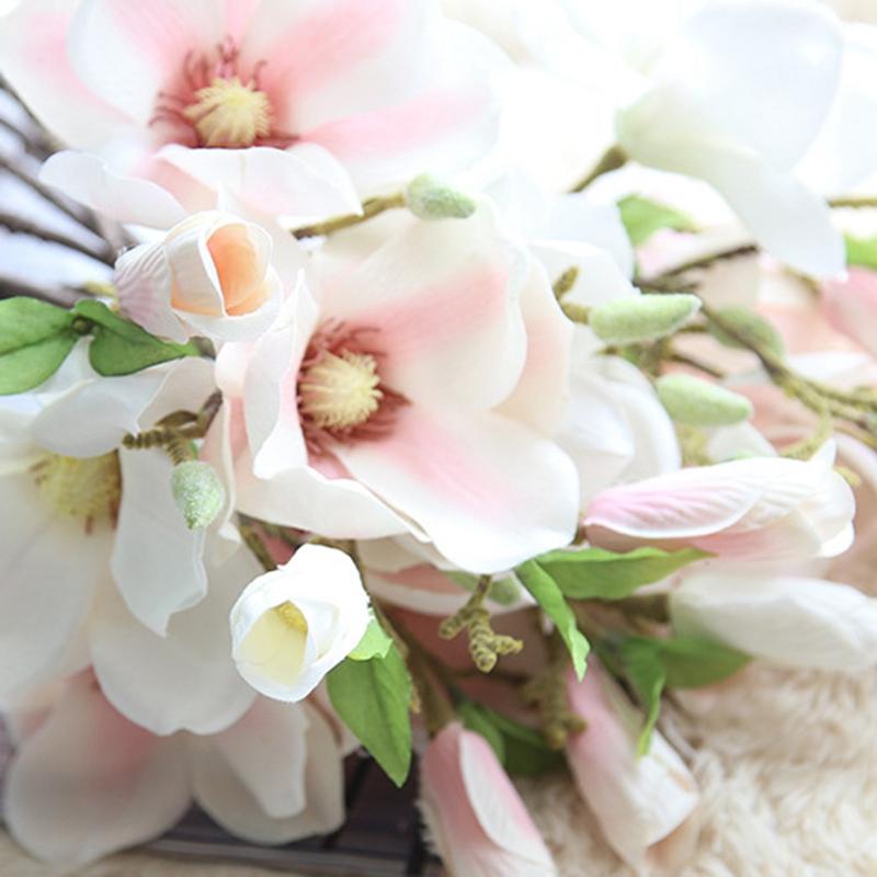 thumbnail 25 - Wedding-Decoration-Silk-Flowers-Orchid-Magnolia-Wedding-Artificial-Flowers-N2U8