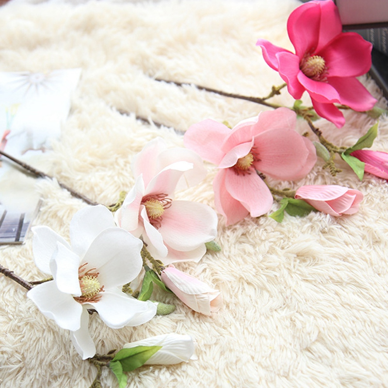 thumbnail 29 - Wedding-Decoration-Silk-Flowers-Orchid-Magnolia-Wedding-Artificial-Flowers-N2U8