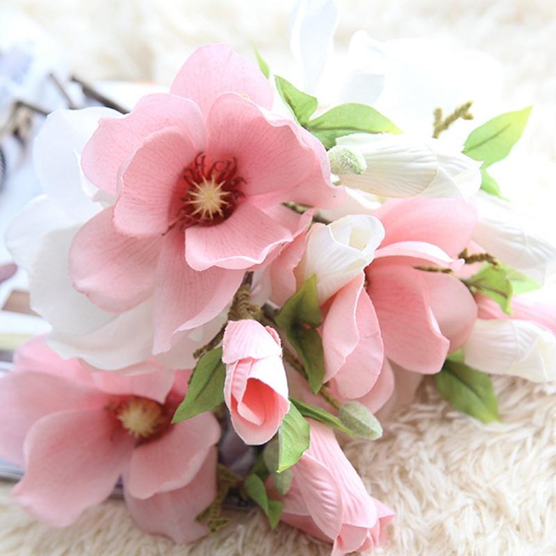 thumbnail 30 - Wedding-Decoration-Silk-Flowers-Orchid-Magnolia-Wedding-Artificial-Flowers-N2U8