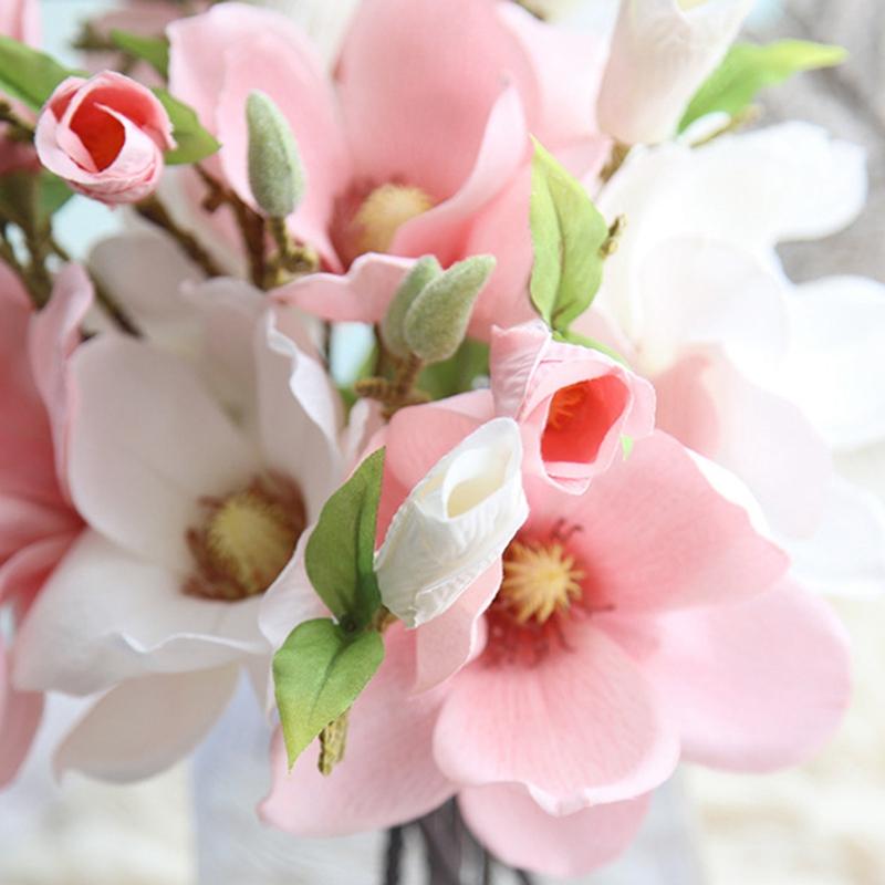 thumbnail 31 - Wedding-Decoration-Silk-Flowers-Orchid-Magnolia-Wedding-Artificial-Flowers-N2U8