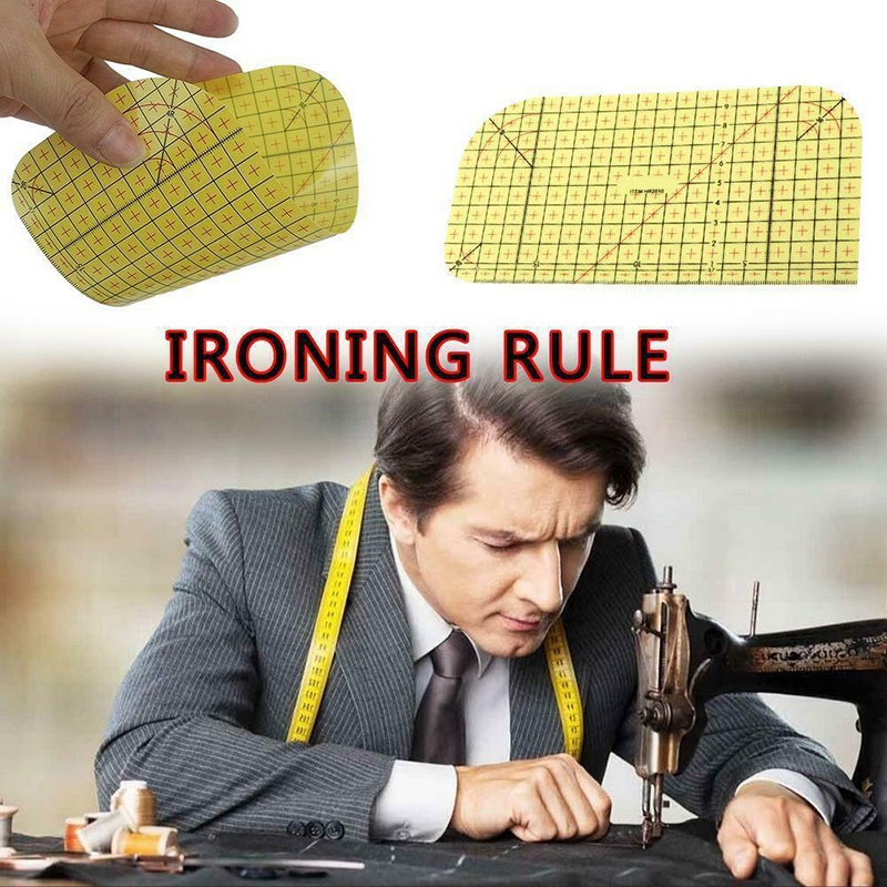 2Pcs-Set-Ironing-Measuring-Ruler-Patchwork-Sewing-Tools-for-Clothing-Making-C9L7 thumbnail 2