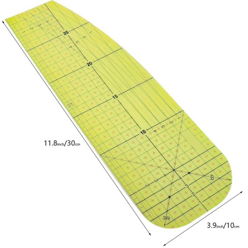 2Pcs-Set-Ironing-Measuring-Ruler-Patchwork-Sewing-Tools-for-Clothing-Making-C9L7 thumbnail 6