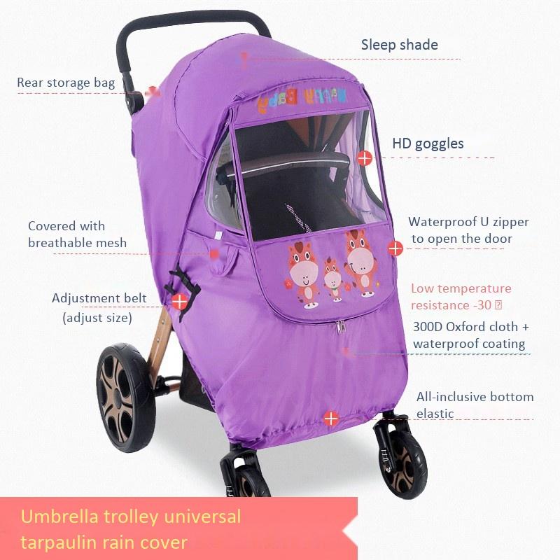 miniatura 4 - Fodera per Passeggino Caldo per Bambini Protezione Antivento Universale Ant D1E3