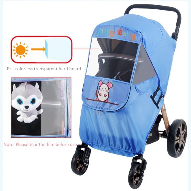 miniatura 10 - Fodera per Passeggino Caldo per Bambini Protezione Antivento Universale Ant D1E3