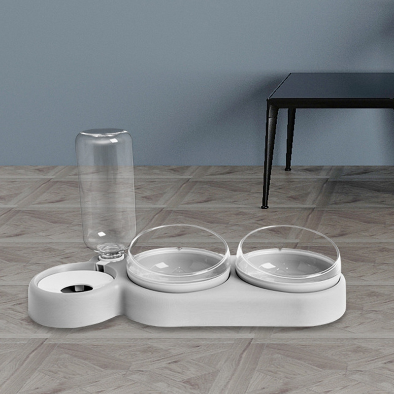 thumbnail 5 - Practical-Pet-Automatic-Feeder-Cat-Dog-Food-Dispenser-Water-Drinking-Bowl-F-N5F4