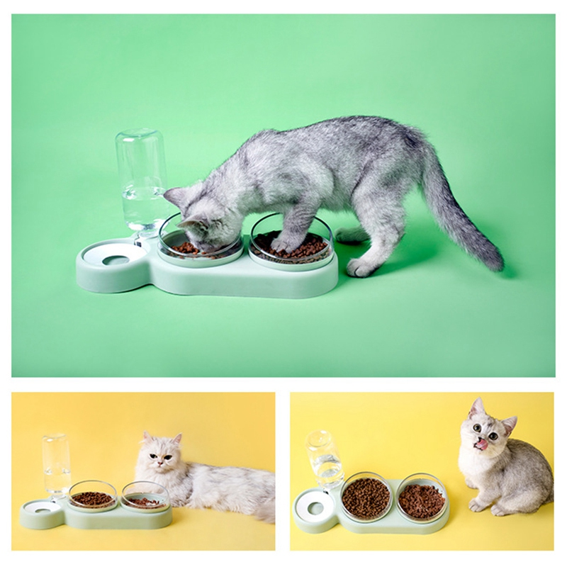 thumbnail 24 - Practical-Pet-Automatic-Feeder-Cat-Dog-Food-Dispenser-Water-Drinking-Bowl-F-N5F4