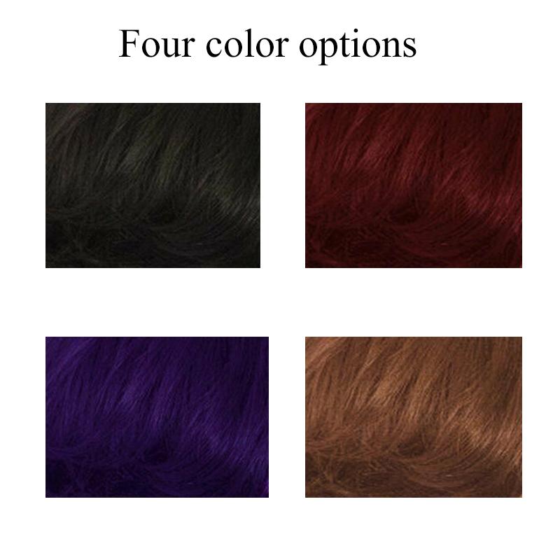 miniature 22 - 1X-Perruque-de-Cheveux-Courts-pour-Femmes-BoucleS-sur-le-CoTe-Cosplay-Syn-L1R1