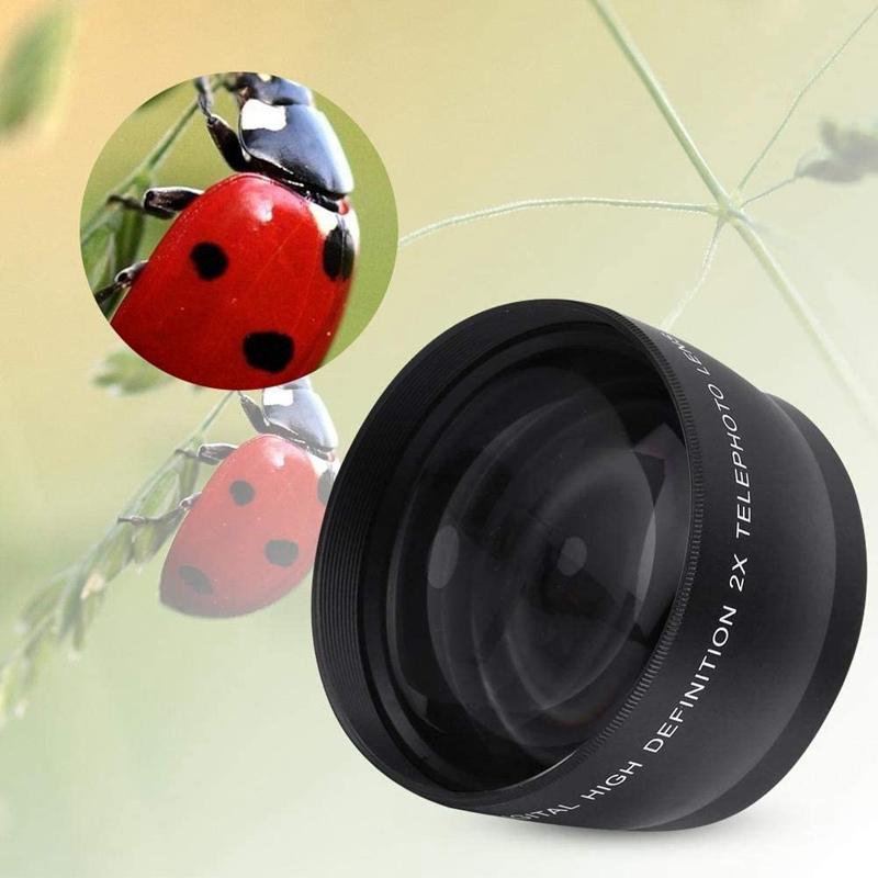 Indexbild 6 - 55Mm-2X-Teleobjektiv-Telekonverter-fuer-Nikon-Sony-Pentax-18-55Mm-Y8L9
