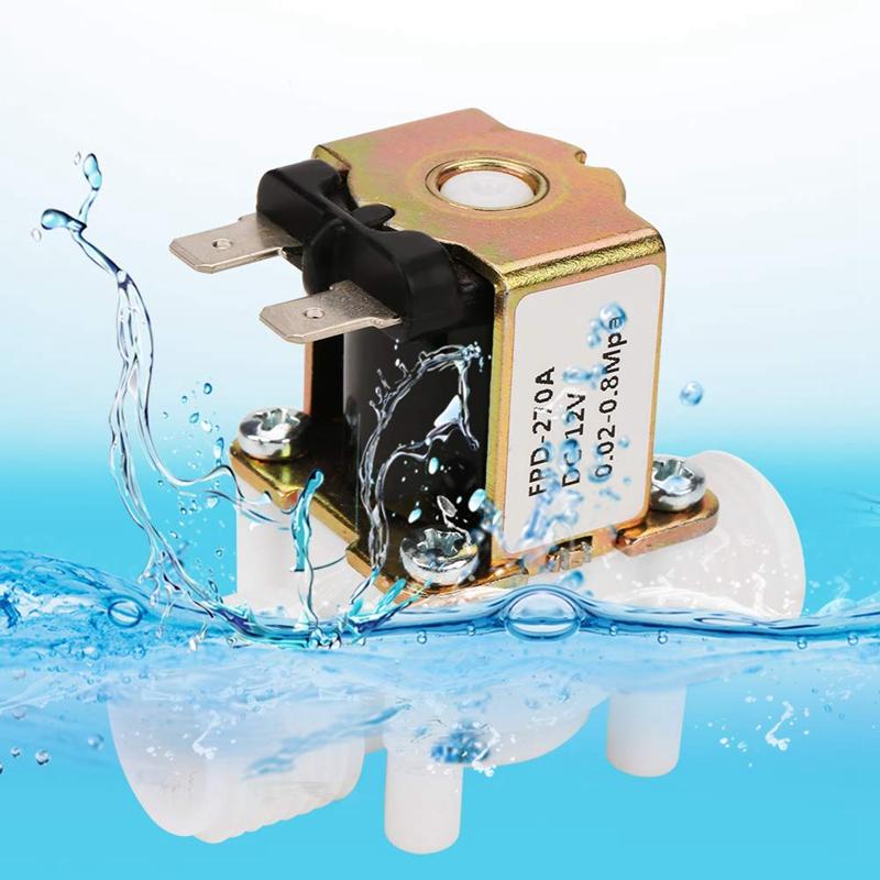 Dc12V-N-C-Elettrovalvola-per-Elettrovalvola-Normalmente-Chiusa-nel-Plasti-L2X8 miniatura 3