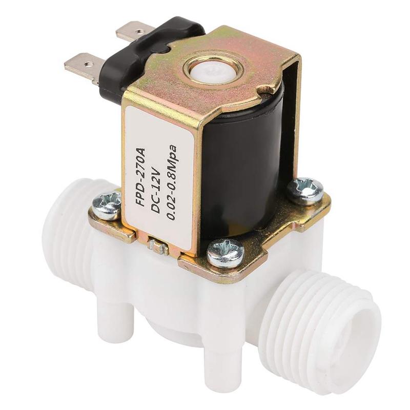 Dc12V-N-C-Elettrovalvola-per-Elettrovalvola-Normalmente-Chiusa-nel-Plasti-L2X8 miniatura 9