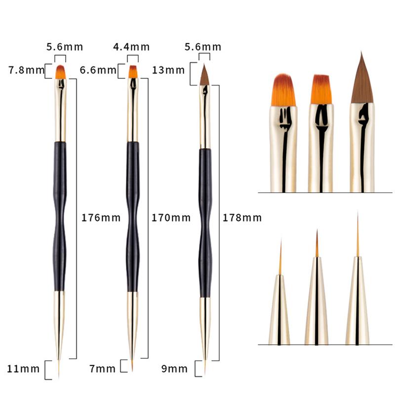 miniature 9 - 1X(Peinture Nail Art Dotting Pen PoignéE Acrylique Manucure Brosse en Crist V4K1