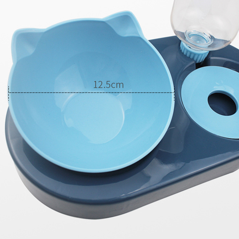 thumbnail 5 - Pet-Dog-Cat-Water-Food-Automatic-Feeder-Fountain-Dispenser-Dual-Ports-Bowl-P9N4
