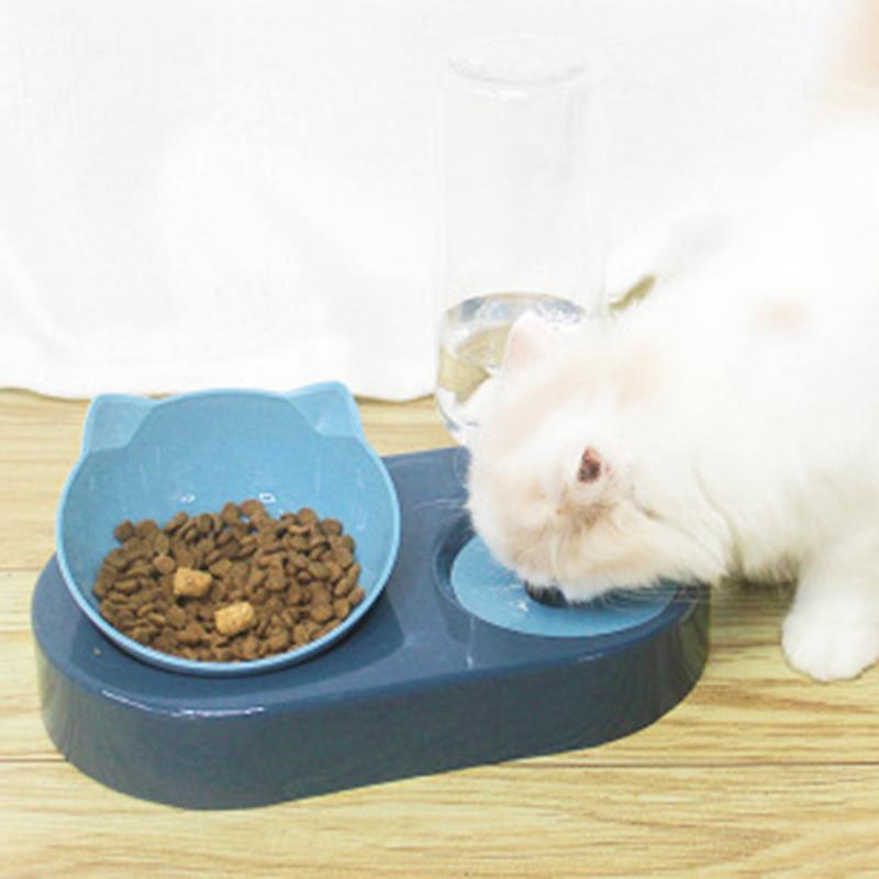 thumbnail 16 - Pet-Dog-Cat-Water-Food-Automatic-Feeder-Fountain-Dispenser-Dual-Ports-Bowl-P9N4
