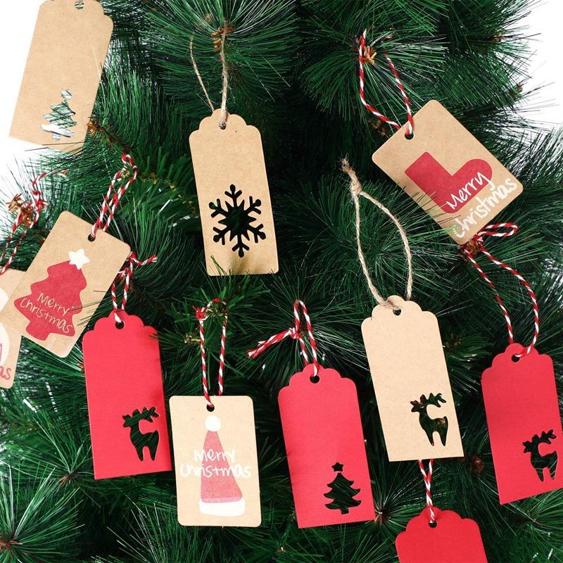 20 Muster) Sweieoni Weihnachten Etiketten Anh/änger 200 PCS Weihnachten Kraftpapier Etiketten mit 200 Jute-Schnur Geschenkanh/änger f/ür Weihnachtsbaum Dekorieren Kunsthandwerk